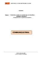 COMMUNIQUE FINAL SEMINAIRE PSR 2017