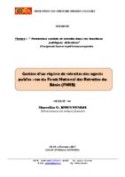 Gestion dun regime de retraite cas du FNRB