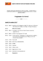 Programme de travail